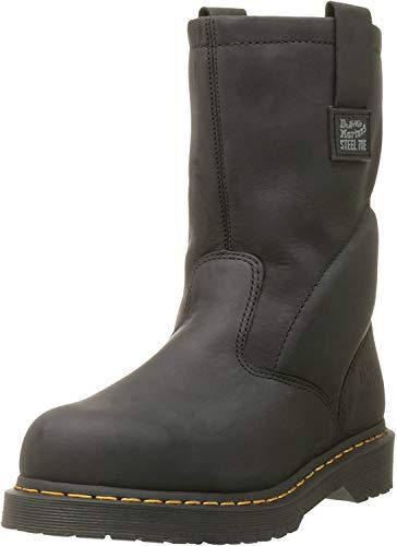 Dr. Martens, Men's Icon 2295 Steel Toe Heavy Industry Boots, Black, 10 M US