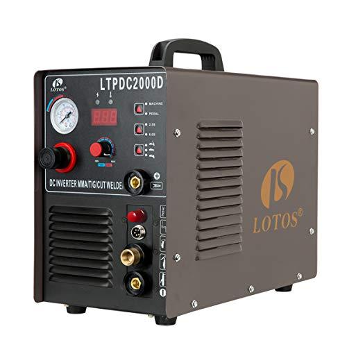 LOTOS LTPDC2000D Non-Touch Pilot Arc 50A Plasma Cutter 200A Tig Welder & Stick Welder 3 in 1 Combo...
