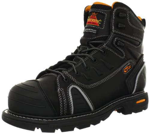 Thorogood Gen-Flex 6-Inch Lace-Toe Composite Work Boot, Black Leather, 10.5 M US