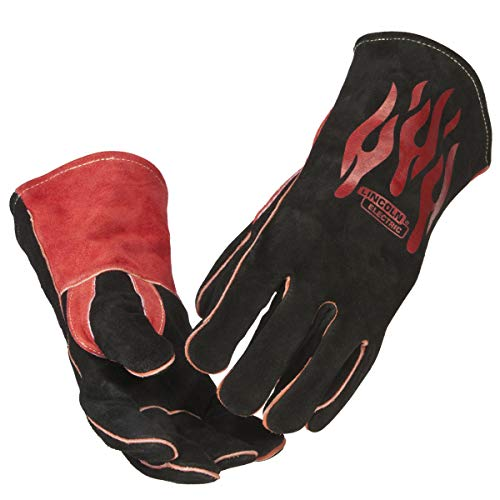 Lincoln Electric Traditional MIG/Stick Welding Gloves | 14' Lined Leather | Kevlar Stitching |...