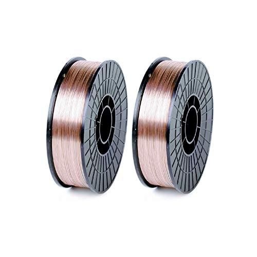 WeldingCity 2-pk Mild Steel MIG Welding Wire ER70S-6 11-Lb Spool 0.030' (0.8mm) 8'-roll | Pack of 2...