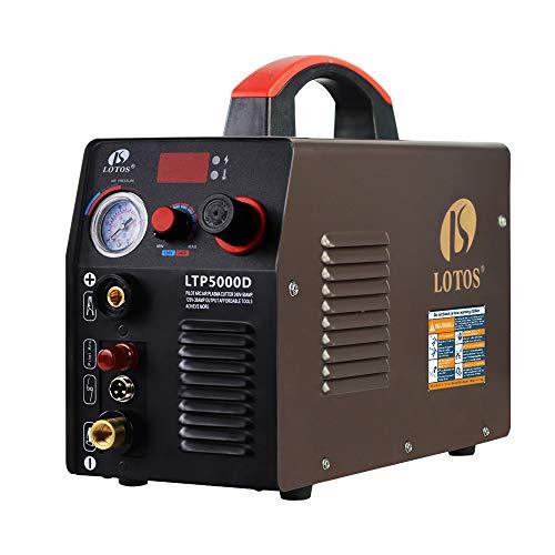 Lotos LTP5000D 50Amp Non-Touch Pilot Arc Plasma Cutter, Dual Voltage 110V/220V, 1/2 Inch Clean Cut,...