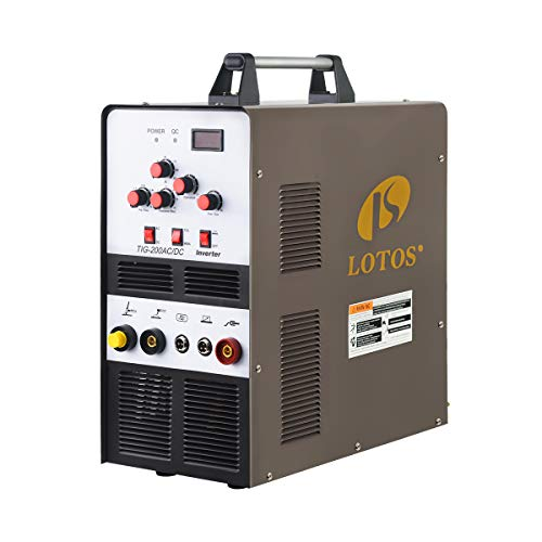 LOTOS TIG200ACDC 200A AC/DC Aluminum Tig Welder with DC Stick/Arc Welder, Square Wave Inverter with...