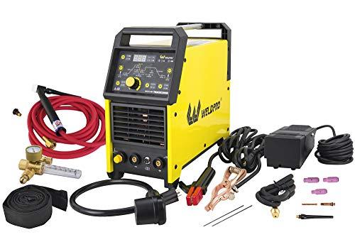 Weldpro Digital TIG 200GD AC DC 200 Amp Tig/Stick Welder with Pulse CK 17 Worldwide Superflex Torch...