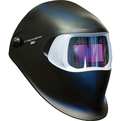 3M Speedglas Welding Helmet 100, 07-0012-31BL, with Auto-Darkening Filter 100V for MMAW TIG10A...