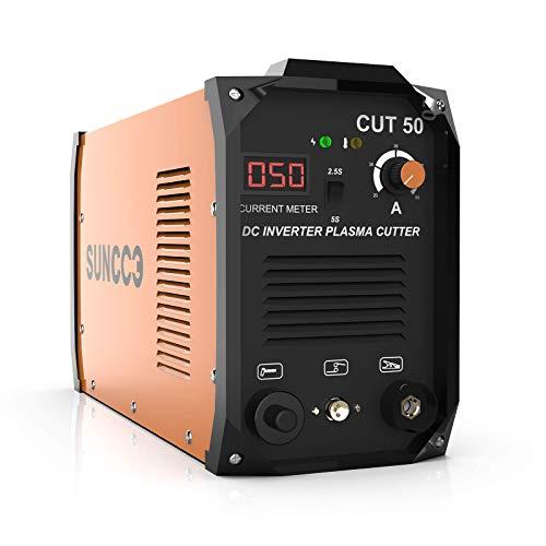 SUNCOO 50 Amp Plasma Cutter 110/220V, Portable Pro. Cut 50 Electric DC Inverter Metal Plasma Cutting...