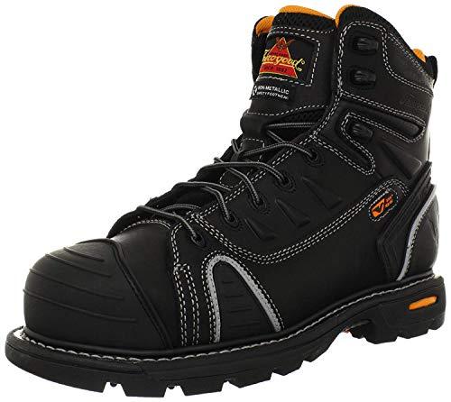 Thorogood 804-6444 Men's GEN-flex2 Series - 6' Cap Toe, Composite Safety Toe Boot, Black - 10.5 M US