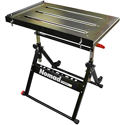 Strong Hand Tools, Nomad, Steel Welding Table, Three 1.1″ (28mm) Tabletop Slots, Adjustable Angle...