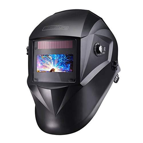 TACKLIFE Welding Helmet Solar Power Auto Darkening, Optical Class (1/1/1/1), Full Shade Range...
