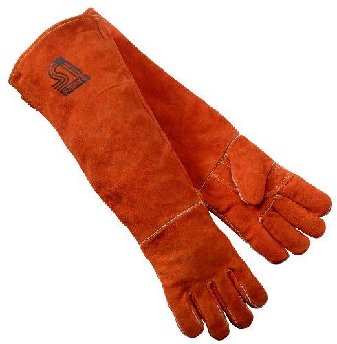 Steiner 21923-L Welding Gloves, Burnt orange Y-Series 23-Inch Length Shoulder Split Cowhide, Foam...