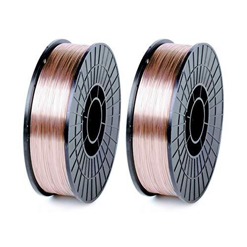 WeldingCity 2 Rolls of ER70S-6 ER70S6 Mild Steel MIG Welding Wire 11-Lb Spool 0.030' (0.8mm)