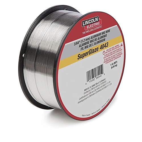 .035' ER5356 Lincoln SuperGlaze 5356 Aluminum MIG Welding Wire 1 Spool, Pack Quantity - 20