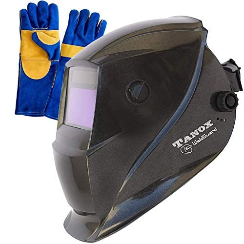 Tanox Auto Darkening Solar Powered Welding Helmet ADF-206S: Shade Lens, Tig Mig MMA, Adjustable...