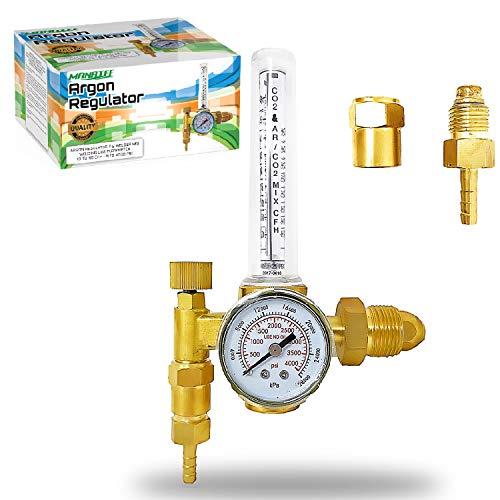 Manatee Argon Regulator TIG Welder MIG Welding CO2 Flowmeter 10 to 60 CFH - 0 to 4000 psi pressure...