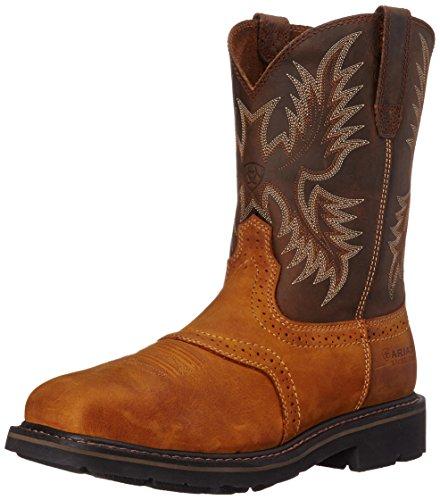 Ariat Men's Sierra Wide Square Steel Toe Work Boot, Aged Bark, 10 M US