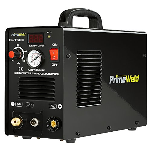 PRIMEWELD Premium & Rugged 50A Air Inverter Plasma Cutter Automatic Dual Voltage 110/220VAC 1/2'...