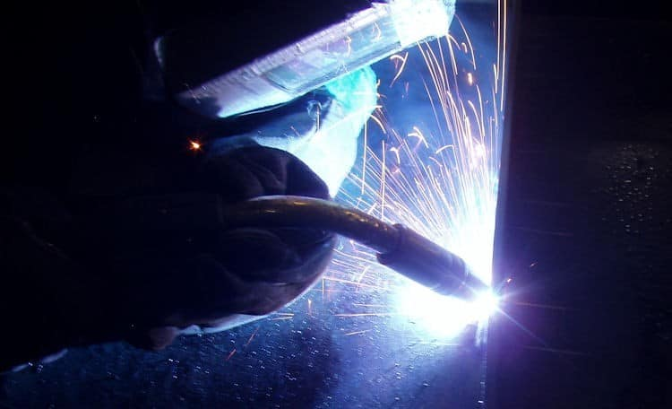 Welding with MIG welder