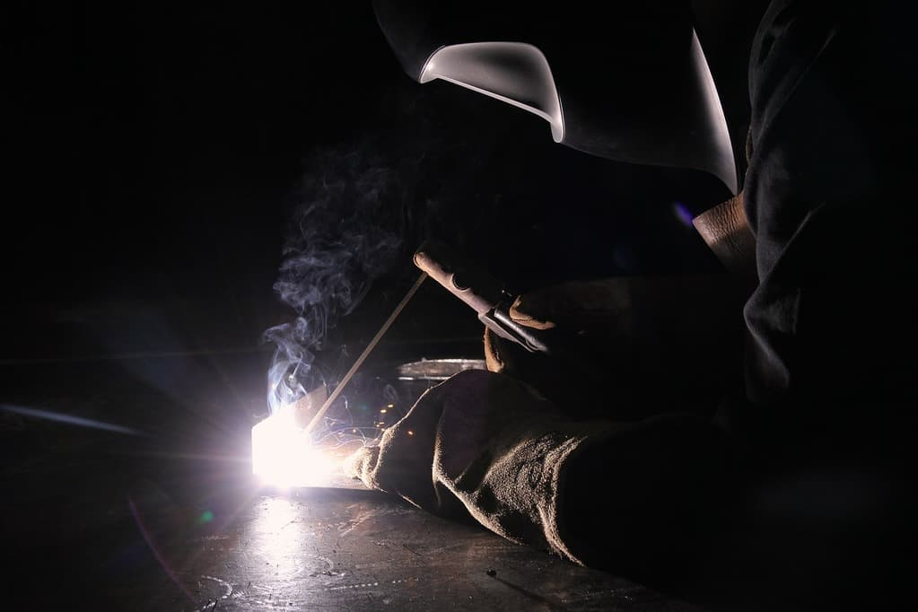 Image of welding using Stick and AC
