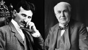 Photographs of Tesla and Edison