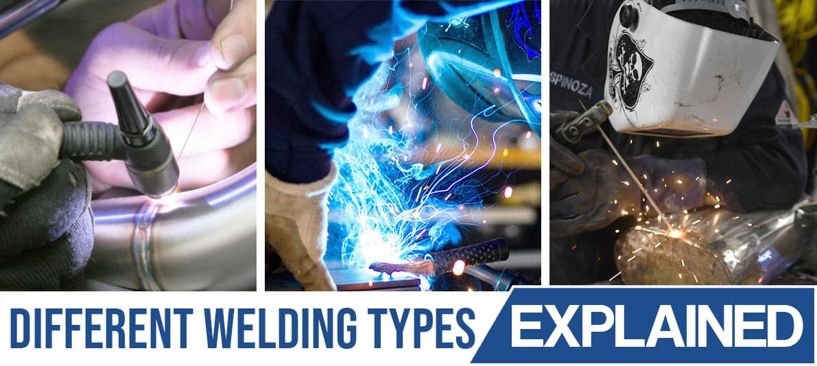 Various welding types shown on image