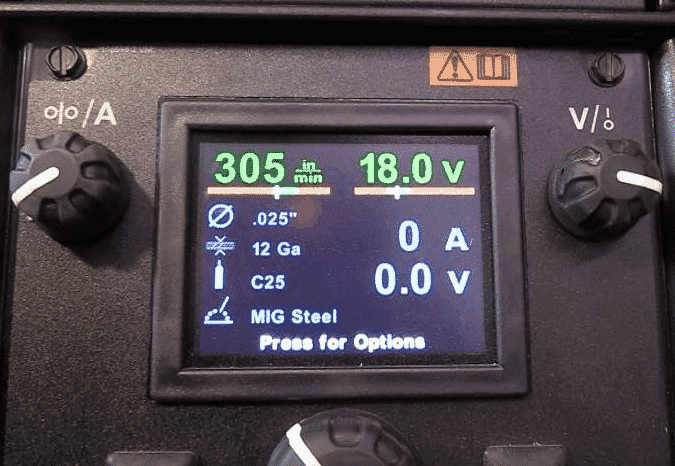 Easy to use commands on a digital display.