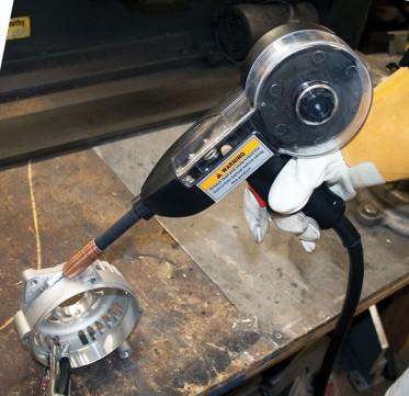 Spool gun for aluminum wleding on a MIG welder