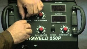 Voltage settings on a mig welder
