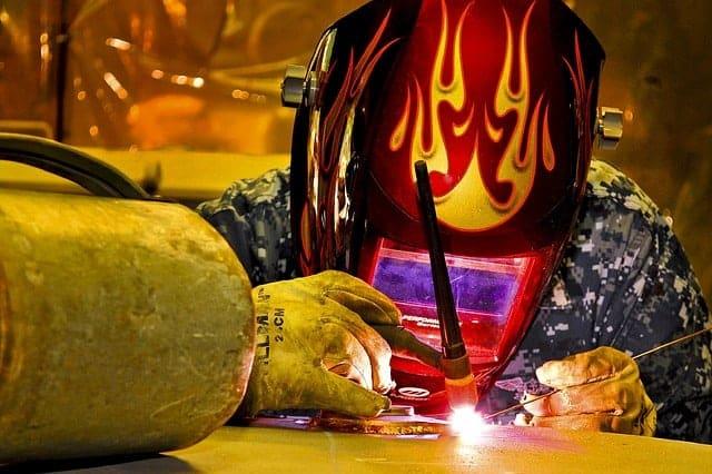 image of a welder doing TIG welding