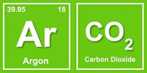 image of argon and co2
