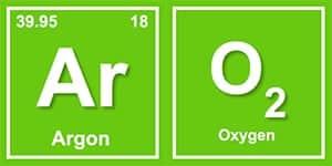 image of Ar and O2