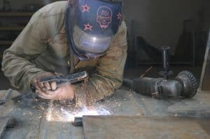 repairs and fabricates metal items to suit the needs of Marines throughout Western Iraq