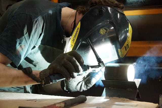 Image of a worker making a TIG weld