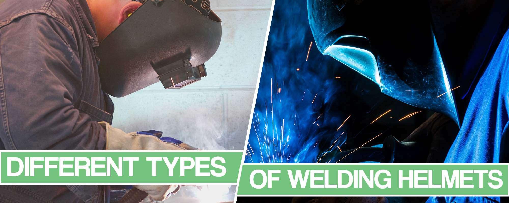 image of the different welding hoods