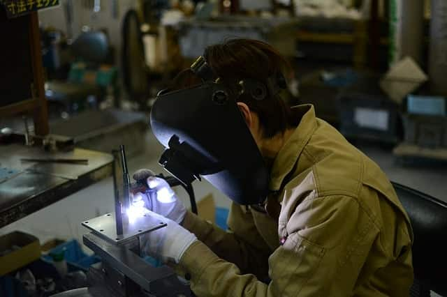 image of a welder worker