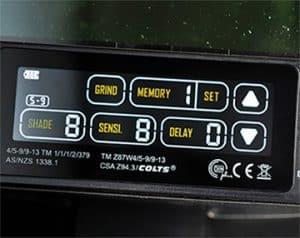image of ESAB sentinel control panel