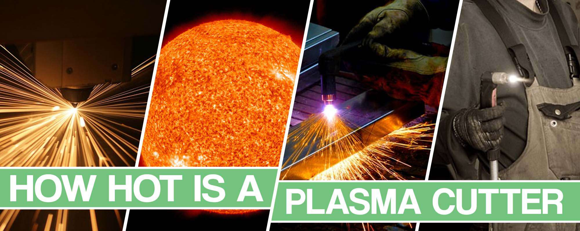image showing the plasma cutter heat