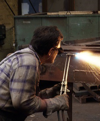 image of a welder worker