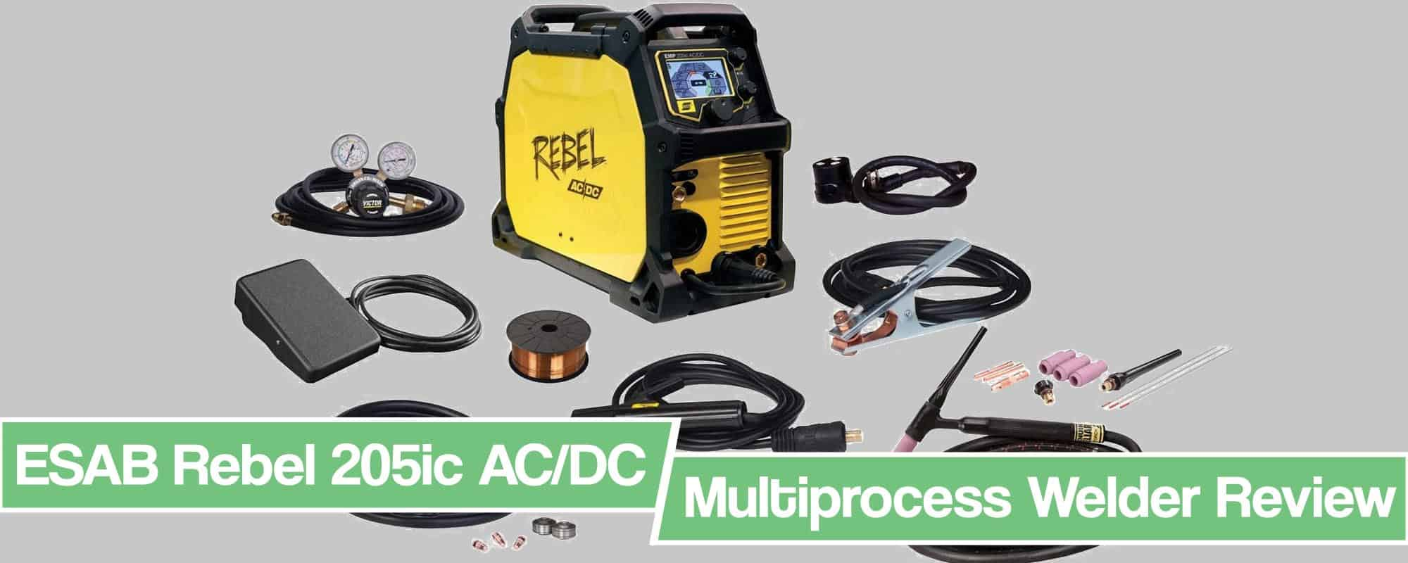 Feature image for ESAB Rebel 205ic review article