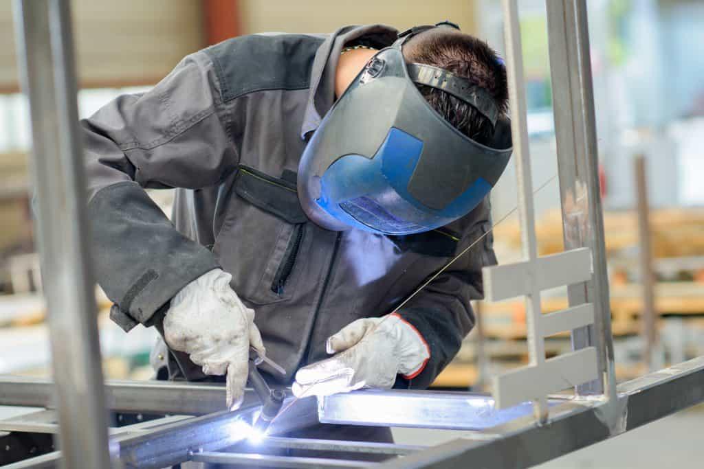 welder with TIG torch