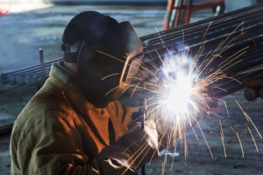Construction welding with stick welder