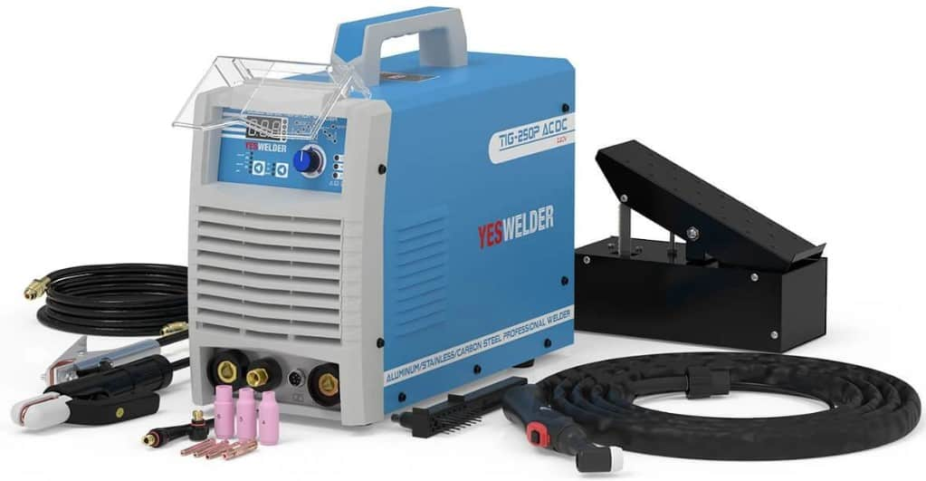 Image of the YesWelder TIG-250P with equipment