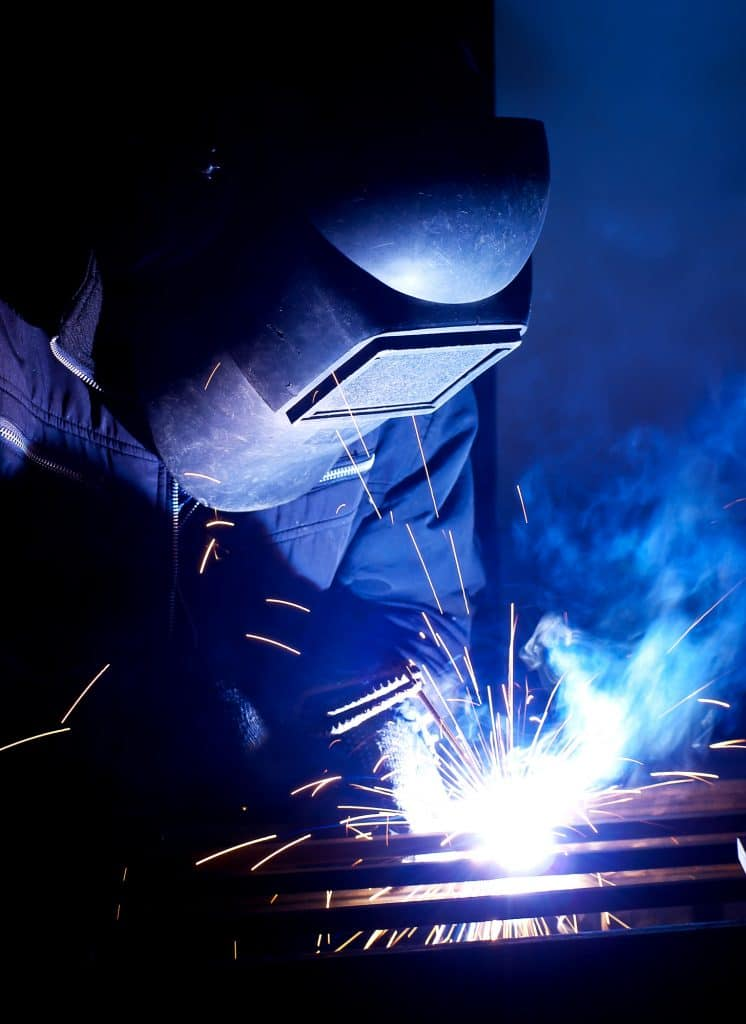 image of a welder working