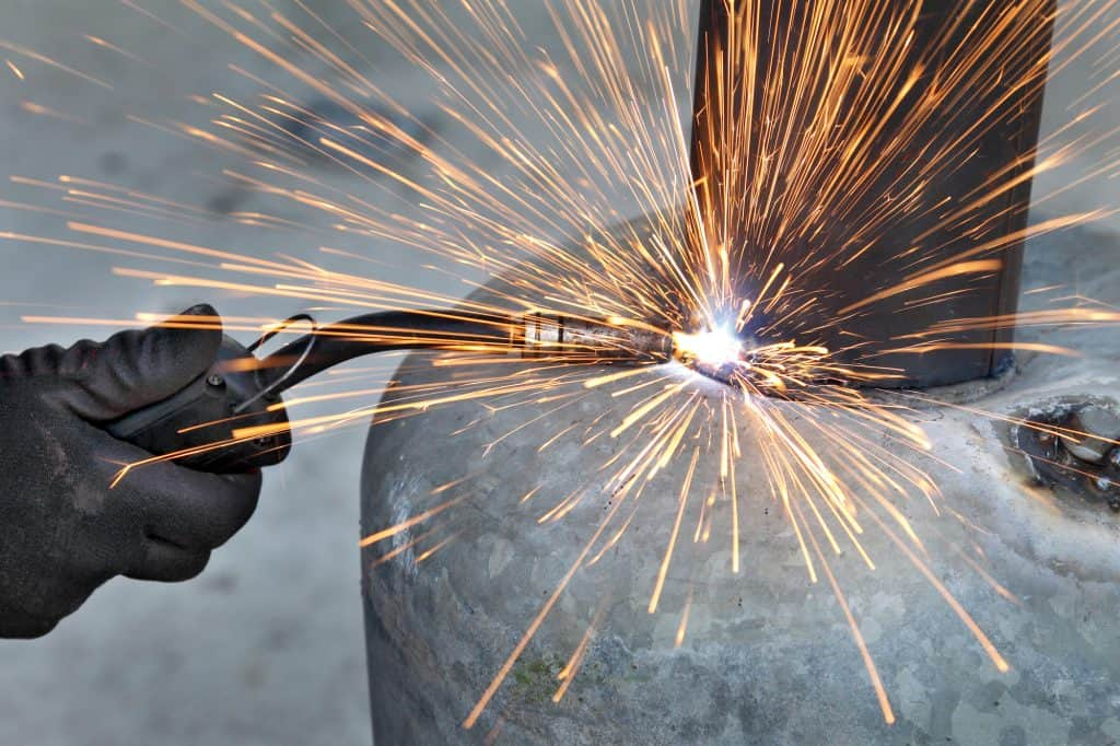 image of MIG welding structure