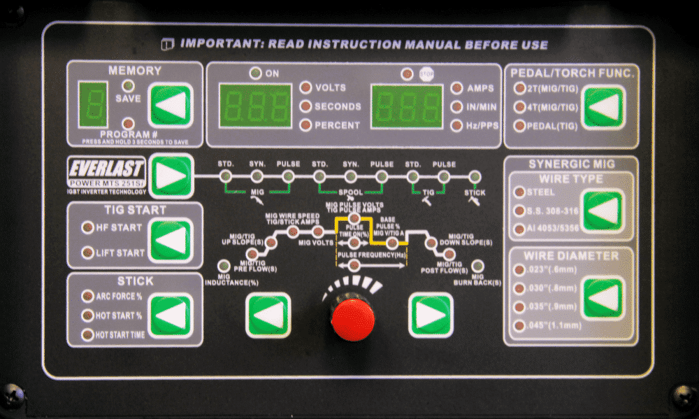 image of the control table