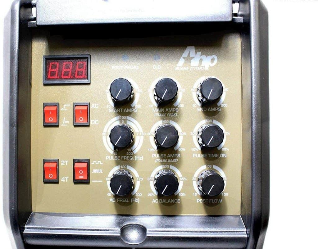 Image of a control panel of a AHP AlphaTIG 200X