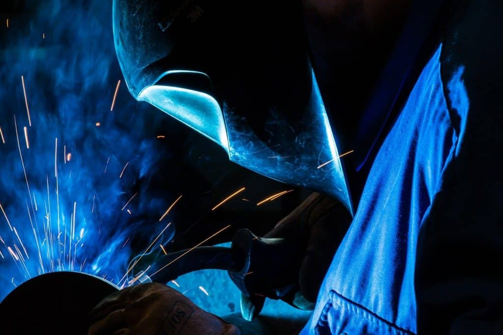 imager of a welder making a weld
