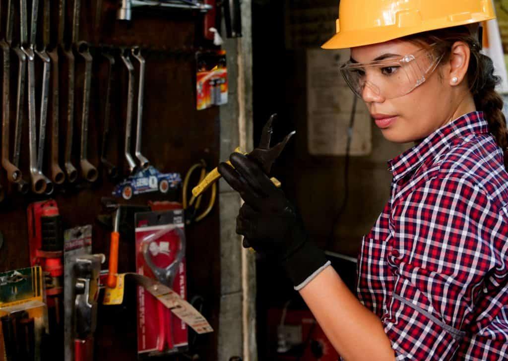 image of a an asian women working
