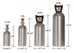 image of co2 tank different sizes