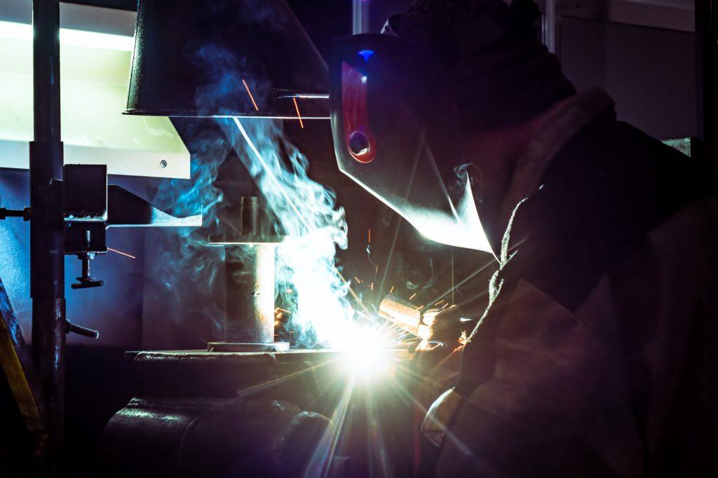 entilation in production. Harmful work. Welding equipment.