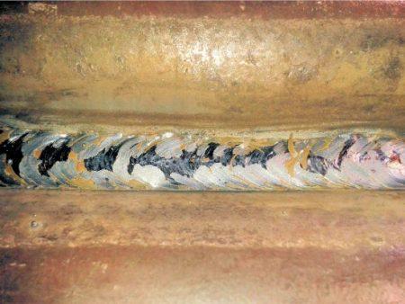 image of poor looking weld